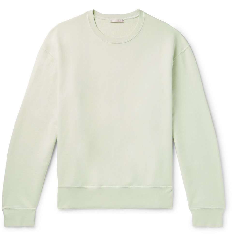 Photo: Our Legacy - Loopback Cotton-Jersey Sweatshirt - Light green