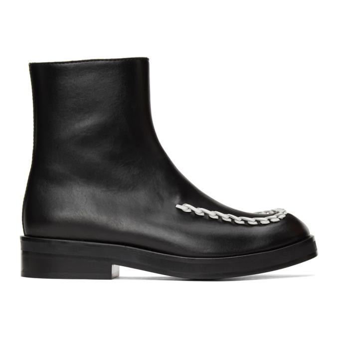 Photo: JW Anderson Black Stitch Chelsea Boots