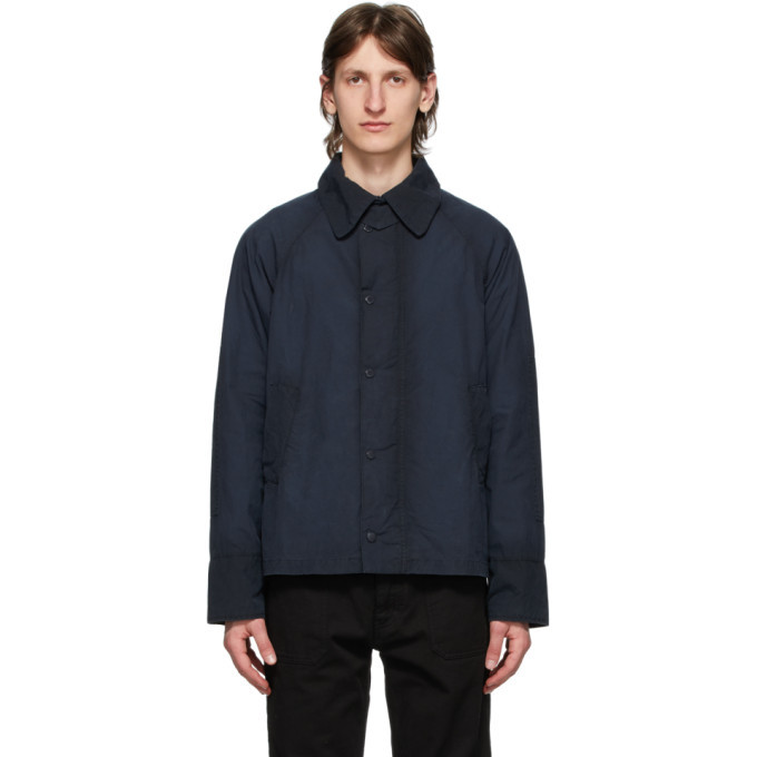 Photo: Barbour Navy Engineered Garments Edition Washed Graham Jacket