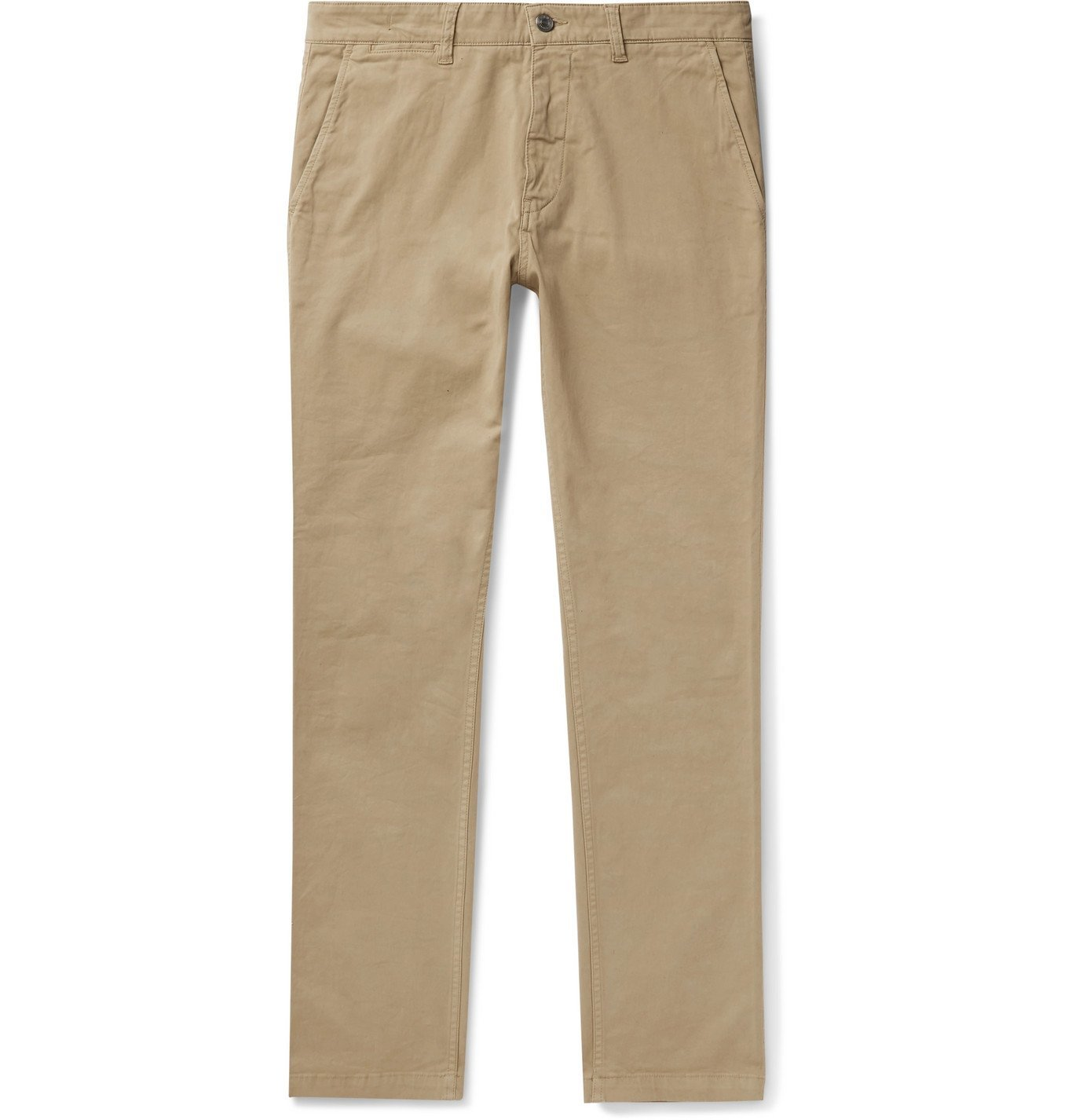Photo: NN07 - Marco 1400 Slim-Fit Tapered Stretch-Cotton Twill Chinos - Neutrals
