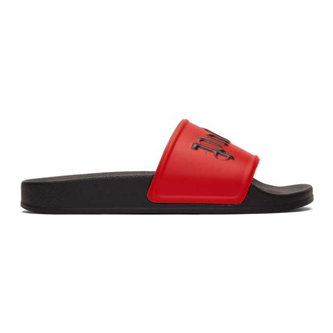 Photo: Palm Angels Red Pool Slides