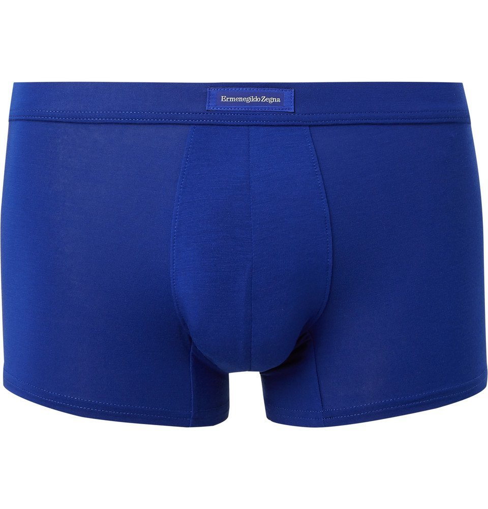 Photo: Ermenegildo Zegna - Stretch-Modal Boxer Briefs - Men - Blue