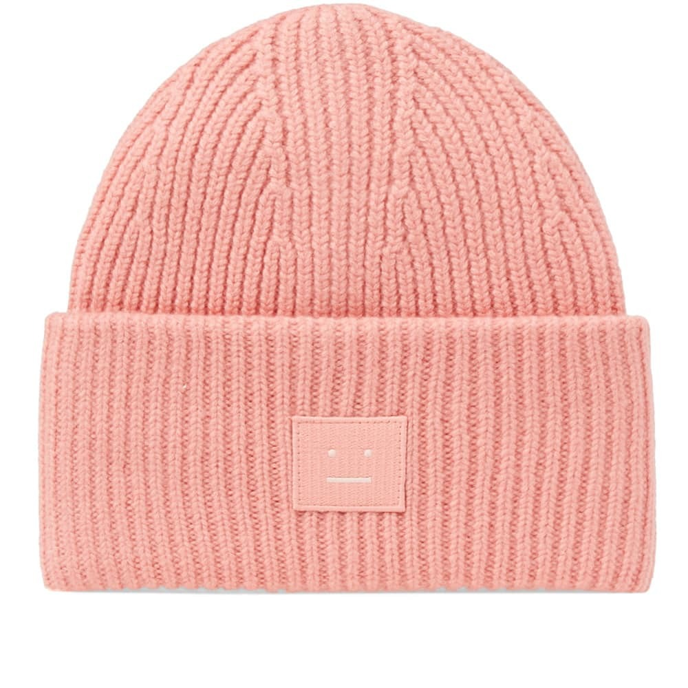 Acne Studios Pansy S Face Beanie Pink