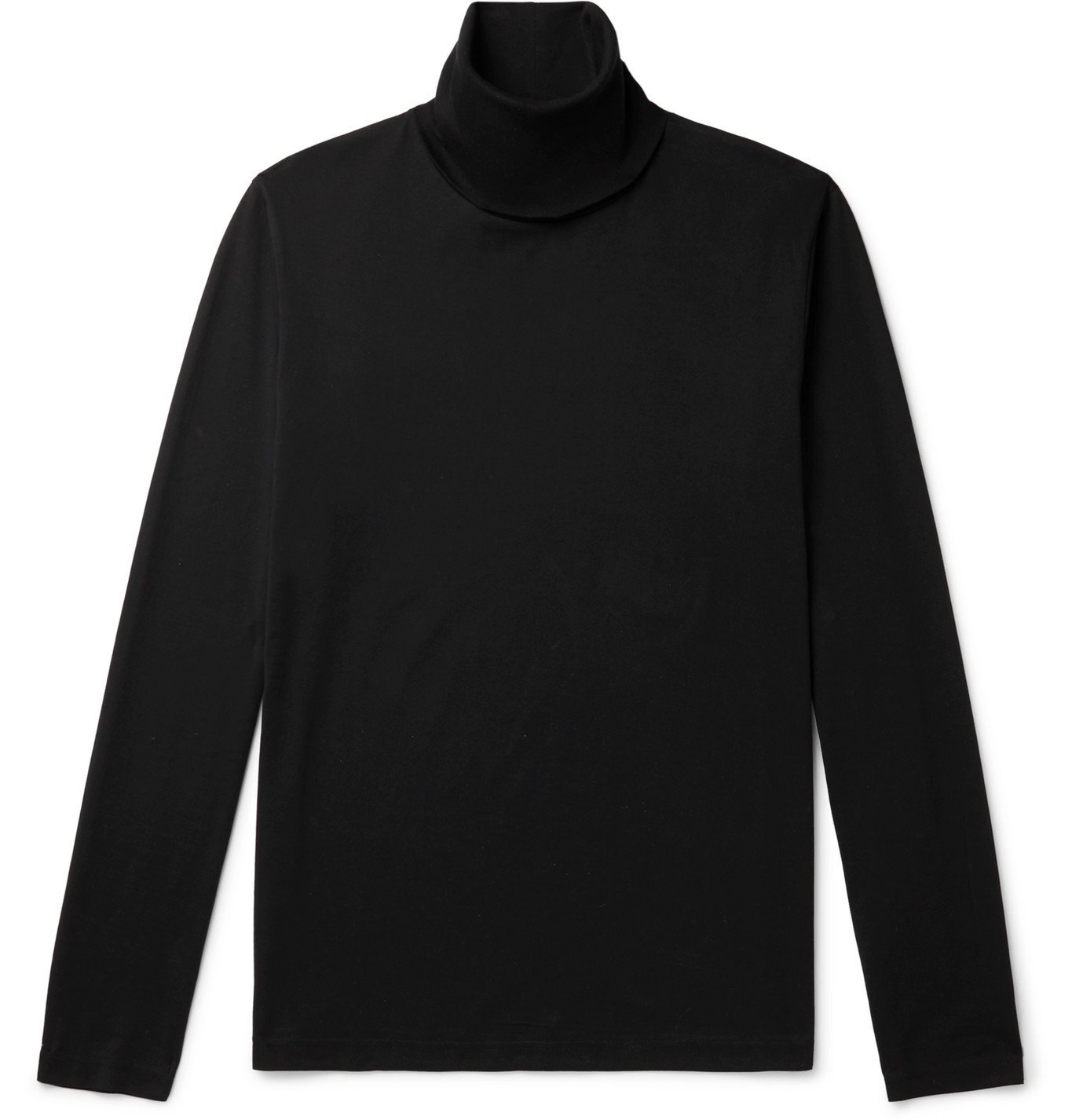 Photo: Acne Studios - Cotton-Jersey Rollneck T-Shirt - Black