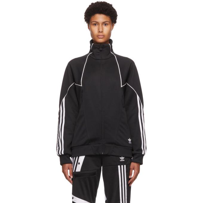 Photo: adidas Originals Black Trefoil Abstract Track Jacket