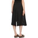 Sacai Black Denim Suiting Combo Skirt