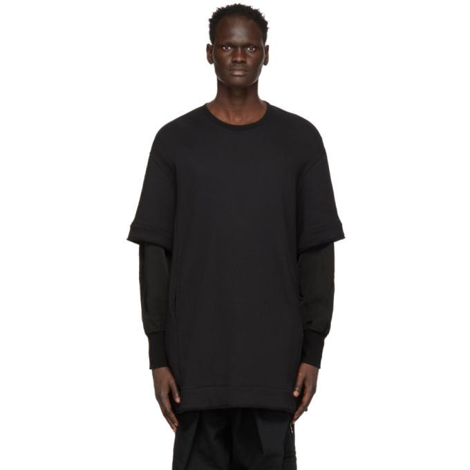 Photo: Julius Black Layered Sleeve Sweatshirt