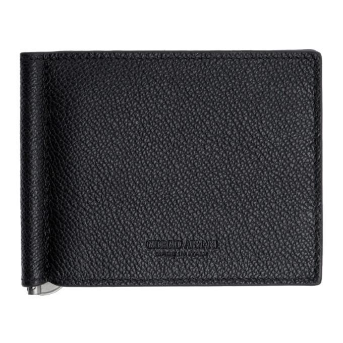 Photo: Giorgio Armani Black Tumbled Leather Wallet