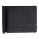 Giorgio Armani Black Tumbled Leather Wallet