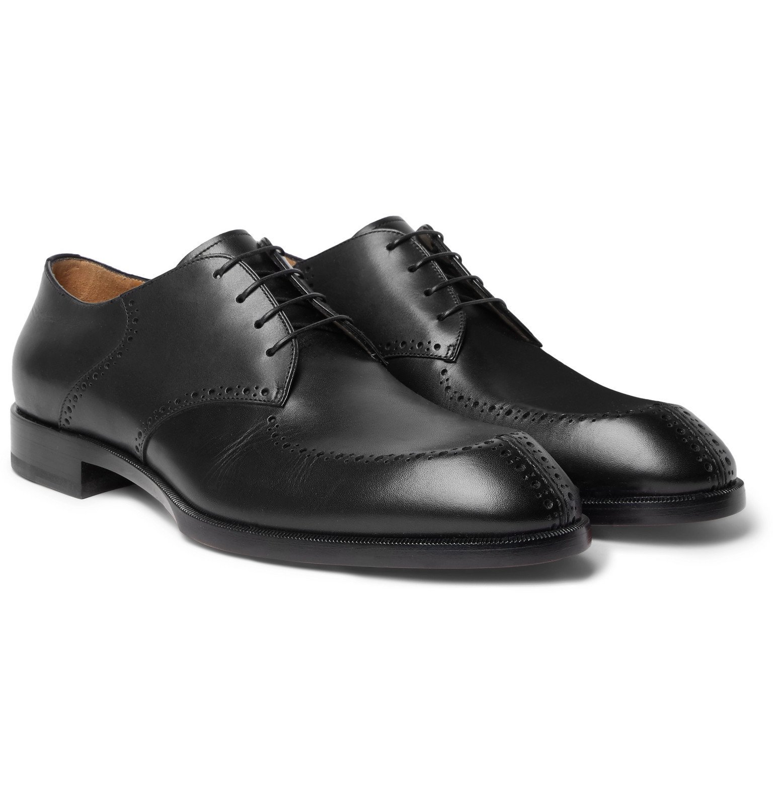 Photo: Christian Louboutin - A Mon Homme Leather Brogues - Black