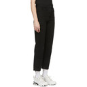 Raf Simons Black Classic Fit Turn-Up Jeans