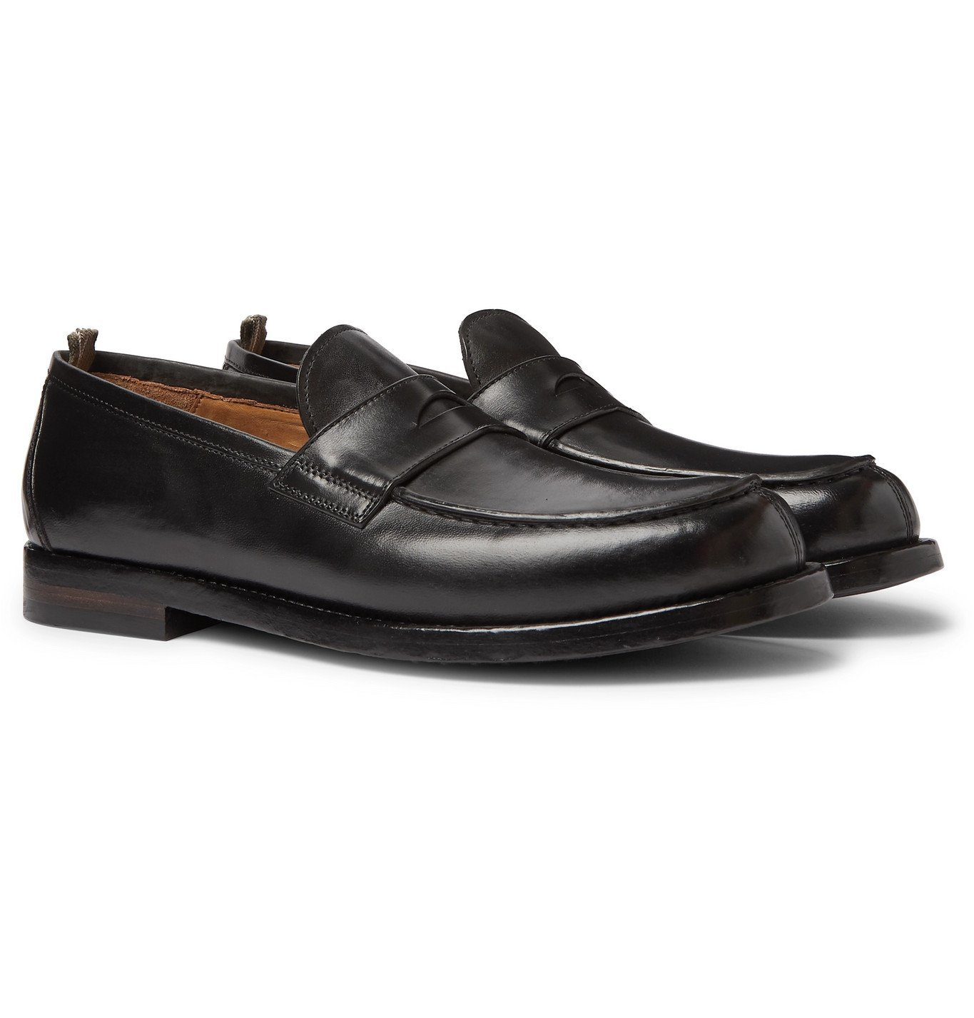 Photo: Officine Creative - Vine Leather Penny Loafers - Black