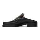 Martine Rose Black Leather Slip-On Loafers