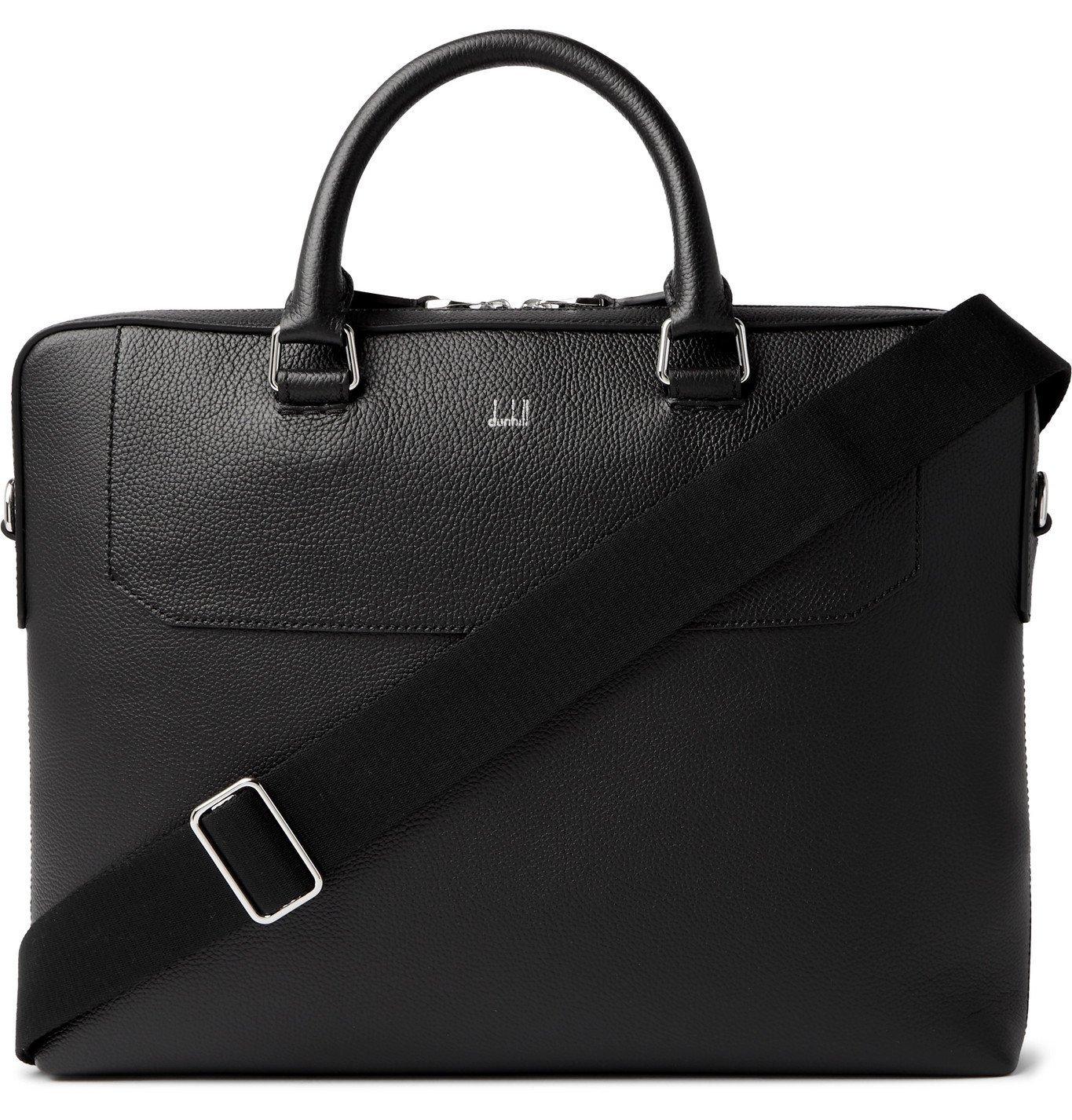 DUNHILL - Belgrave Full-Grain Leather Briefcase - Black