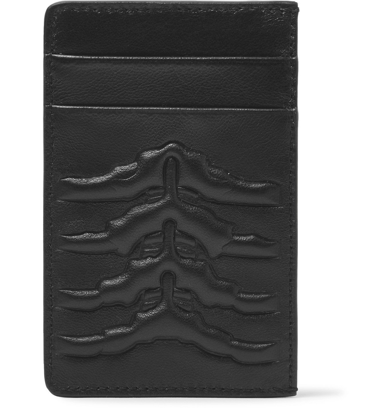 Photo: Alexander McQueen - Embossed Leather Cardholder - Black