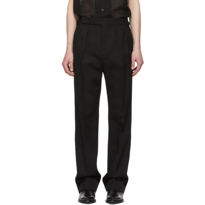 Photo: Saint Laurent Black High-Waisted Trousers