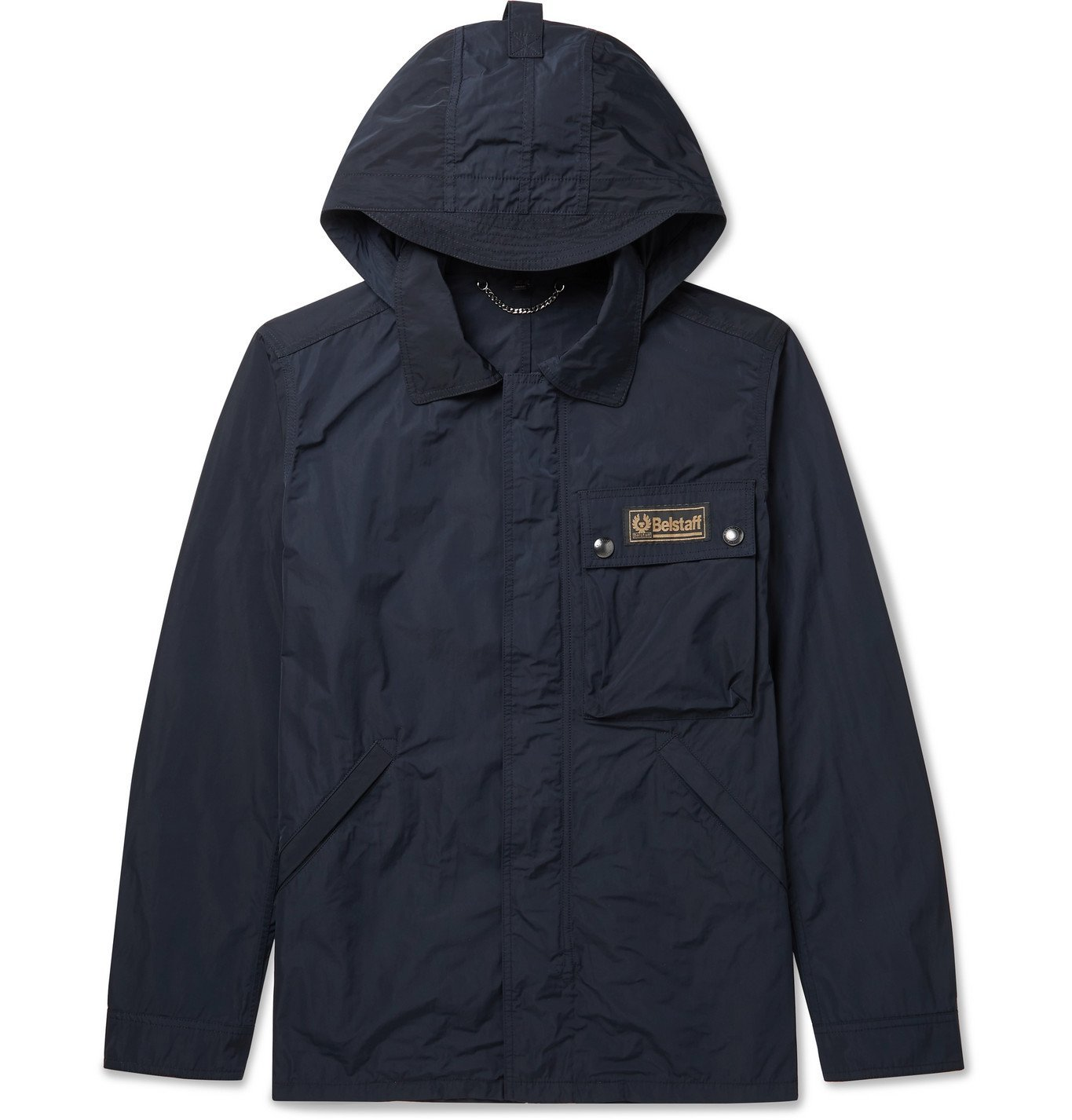 Photo: Belstaff - Weekender Shell Hooded Jacket - Blue