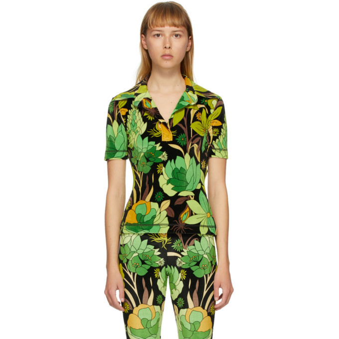 Photo: Fendi Green Garden Print Polo