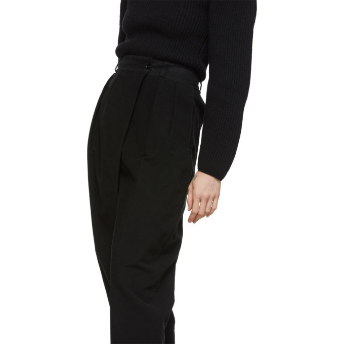 Lemaire Black Loose Trousers