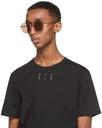 MCQ Gold Metal Round Sunglasses