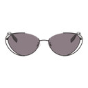 MCQ Black Metal Cat Eye Double Rim Sunglasses