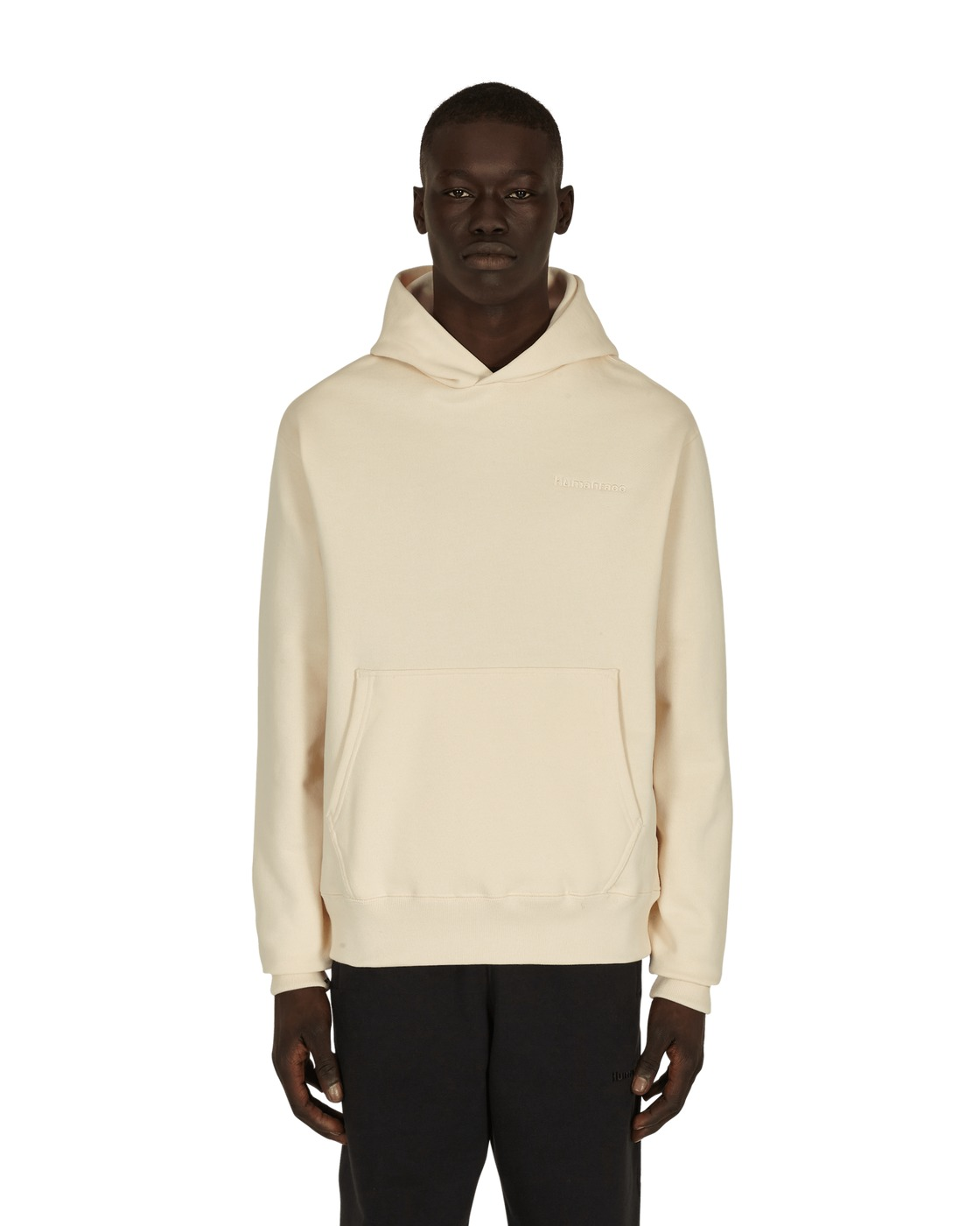 Photo: Adidas Originals Pharrell Williams Basics Hooded Sweatshirt Ecru Tint