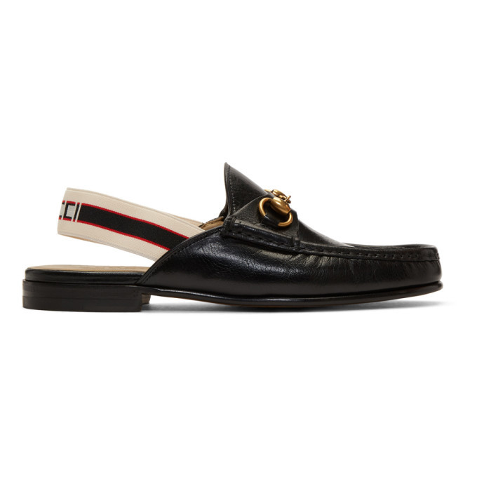 Photo: Gucci Black Leather Roos Loafers