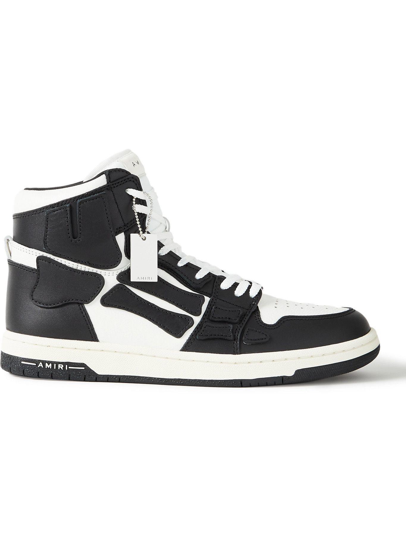 Photo: AMIRI - Skel-Top Colour-Block Leather High-Top Sneakers - Black