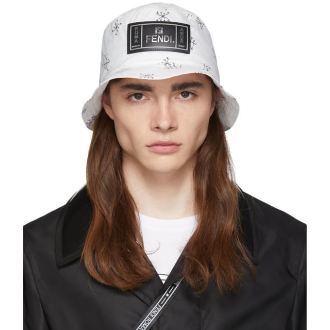 Photo: Fendi Packable White Amor Roma Fendi Fiend Bucket Hat