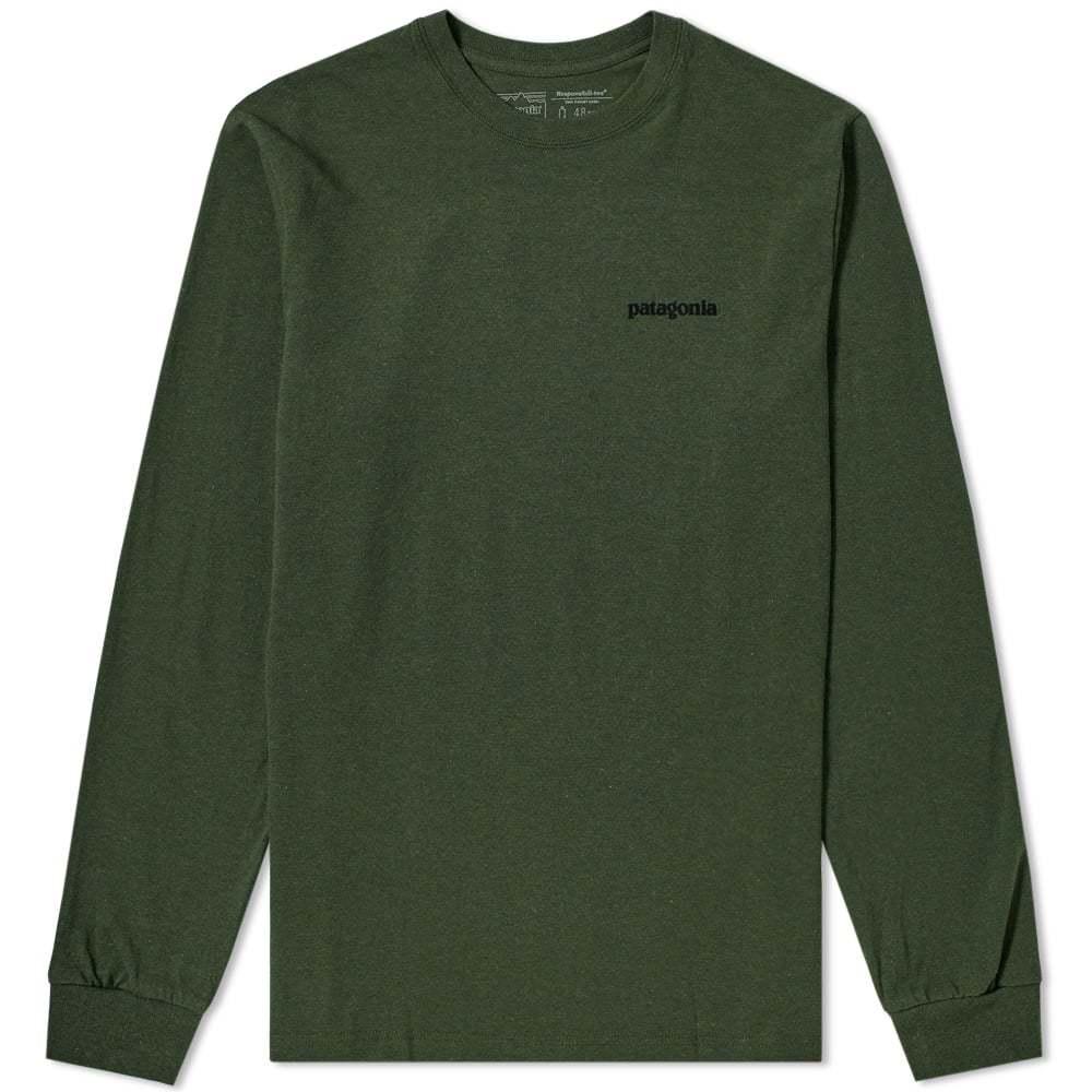 Photo: Patagonia Long Sleeve P-6 Logo Responsibili-Tee Nomad Green