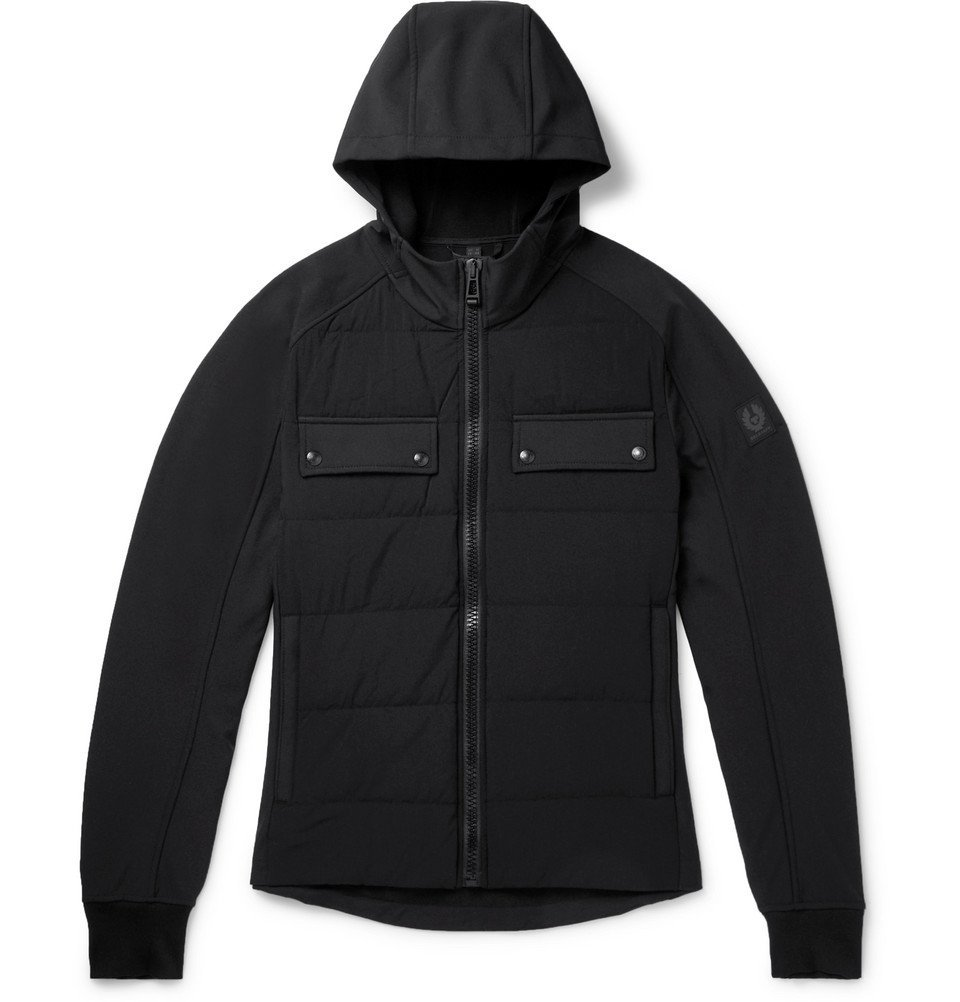 Photo: Belstaff - Slim-Fit Quilted Shell Hooded Down Jacket - Black
