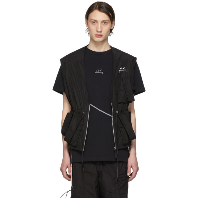 Photo: A-Cold-Wall* SSENSE Exclusive Black Utility Vest