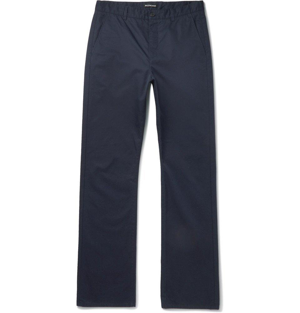 Photo: Balenciaga - Navy Cotton-Twill Trousers - Navy