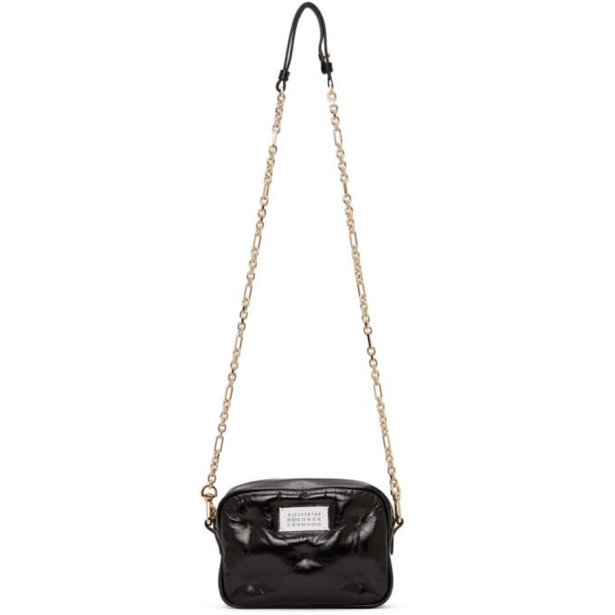Photo: Maison Margiela Black Glossy Glam Slam Bag