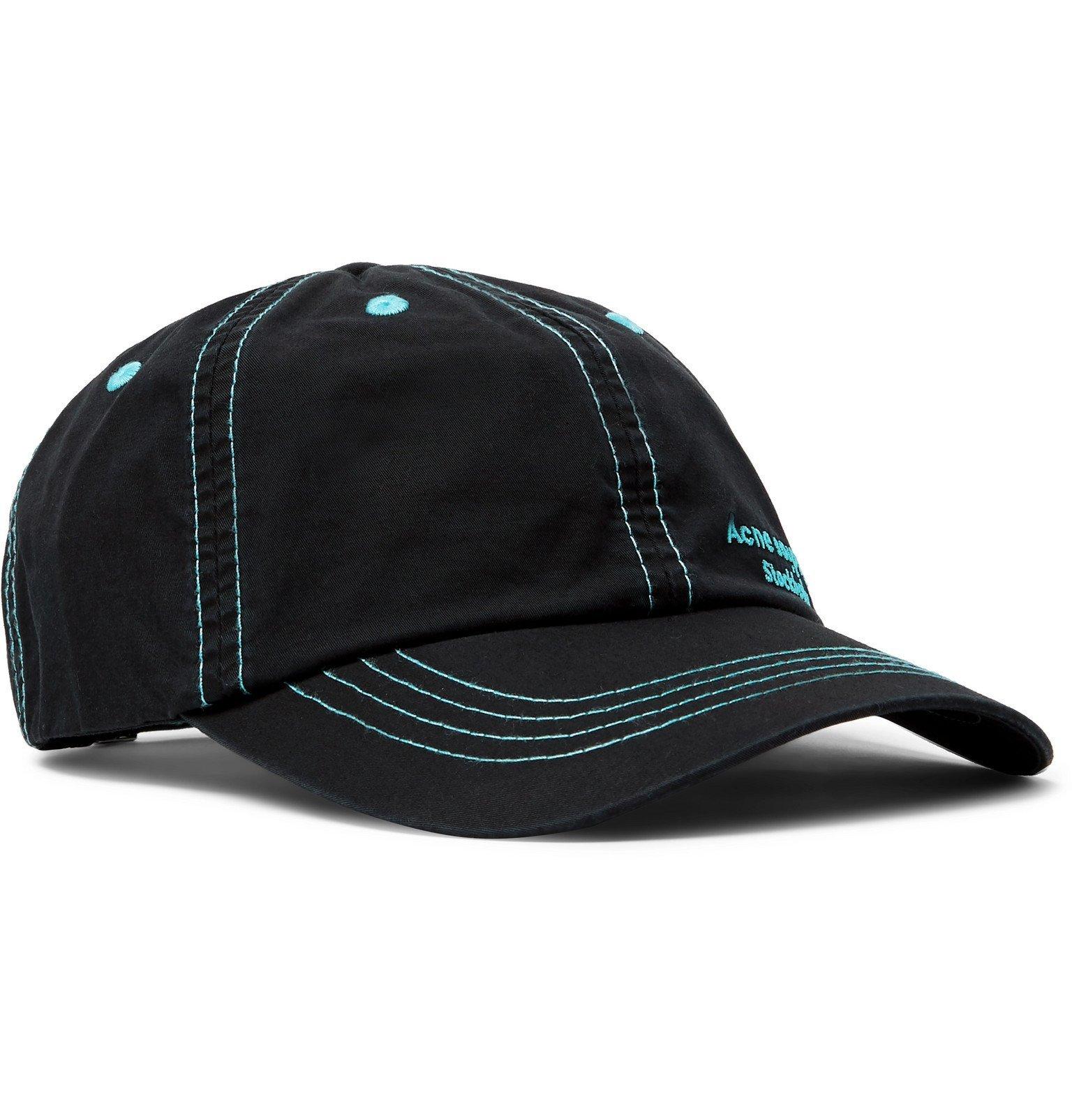 Photo: Acne Studios - Logo-Embroidered Cotton-Twill Baseball Cap - Black