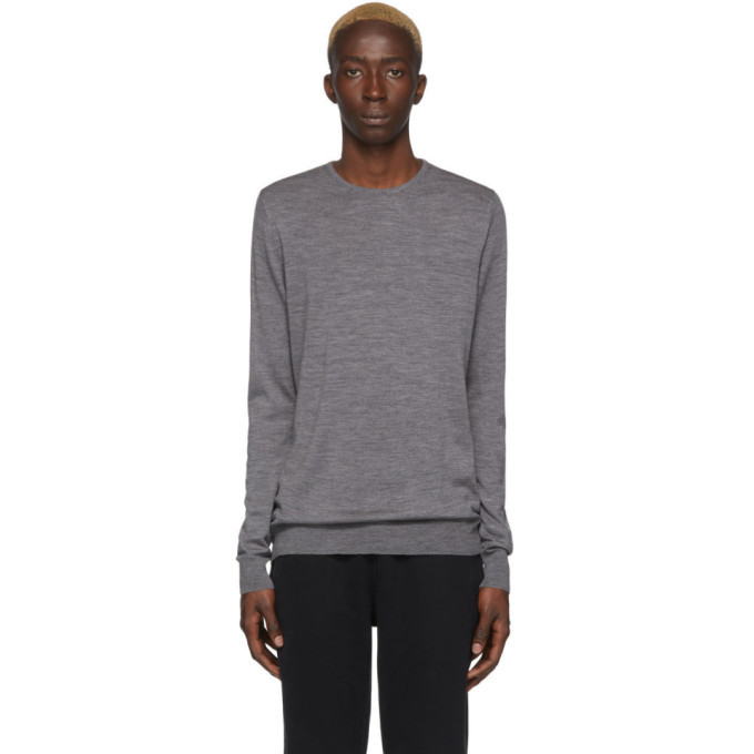 Sunspel Grey Merino Sweater