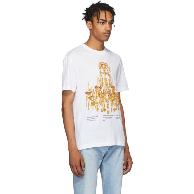 Versace White Chandelier T-Shirt