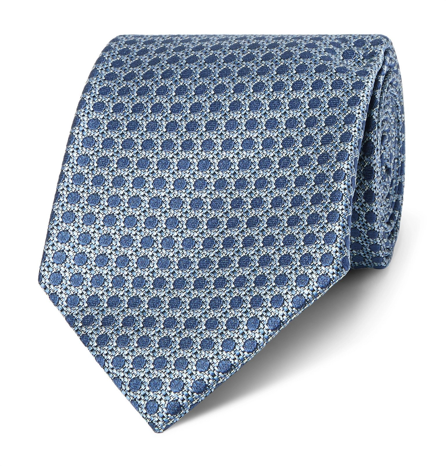Photo: TOM FORD - 8.5cm Silk-jacquard Tie - Blue