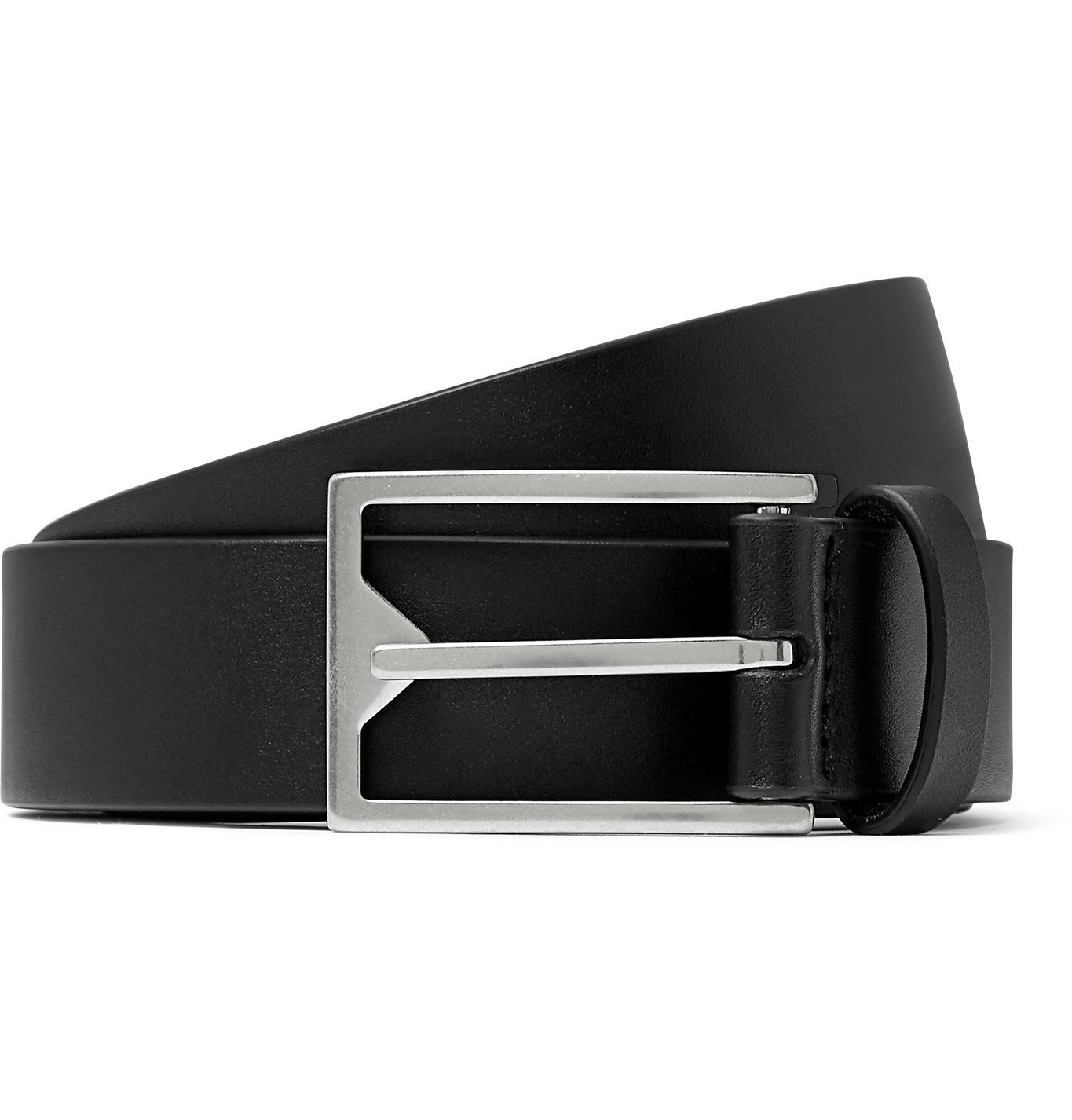Photo: Bottega Veneta - 3cm Leather Belt - Black