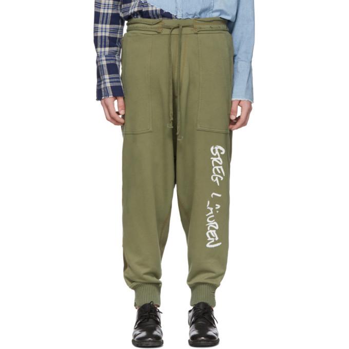 Photo: Greg Lauren Green Army Drop Lounge Pants