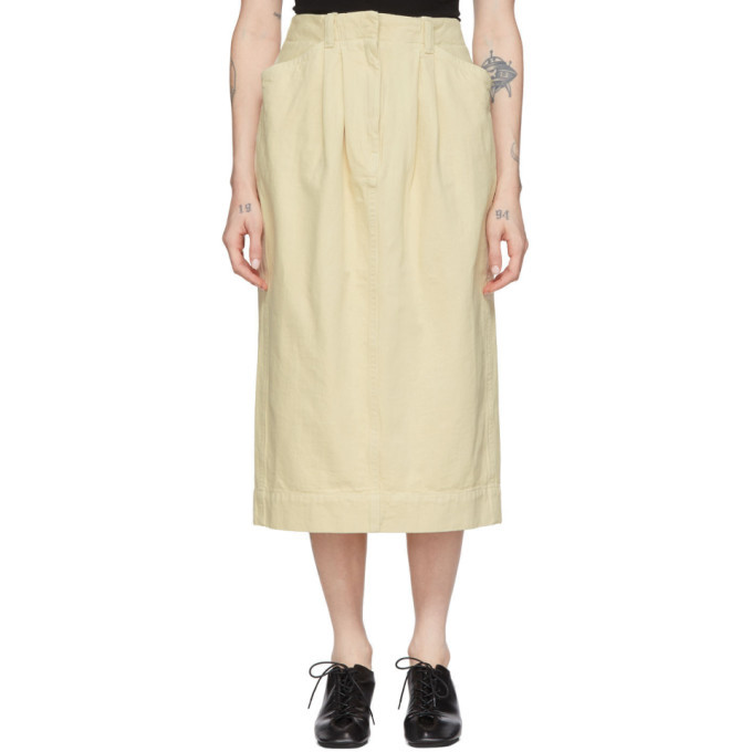 Photo: Lemaire Off-White Denim Baggy Skirt