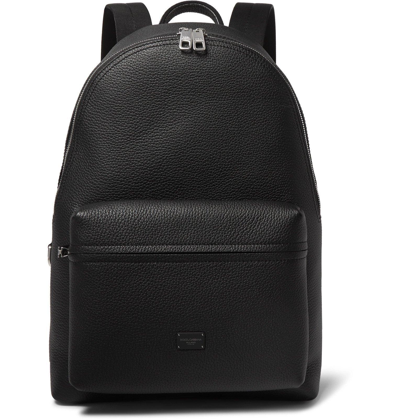 Photo: Dolce & Gabbana - Full-Grain Leather Backpack - Black