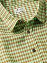 ACNE STUDIOS - Oversized Gingham Linen Shirt - Green