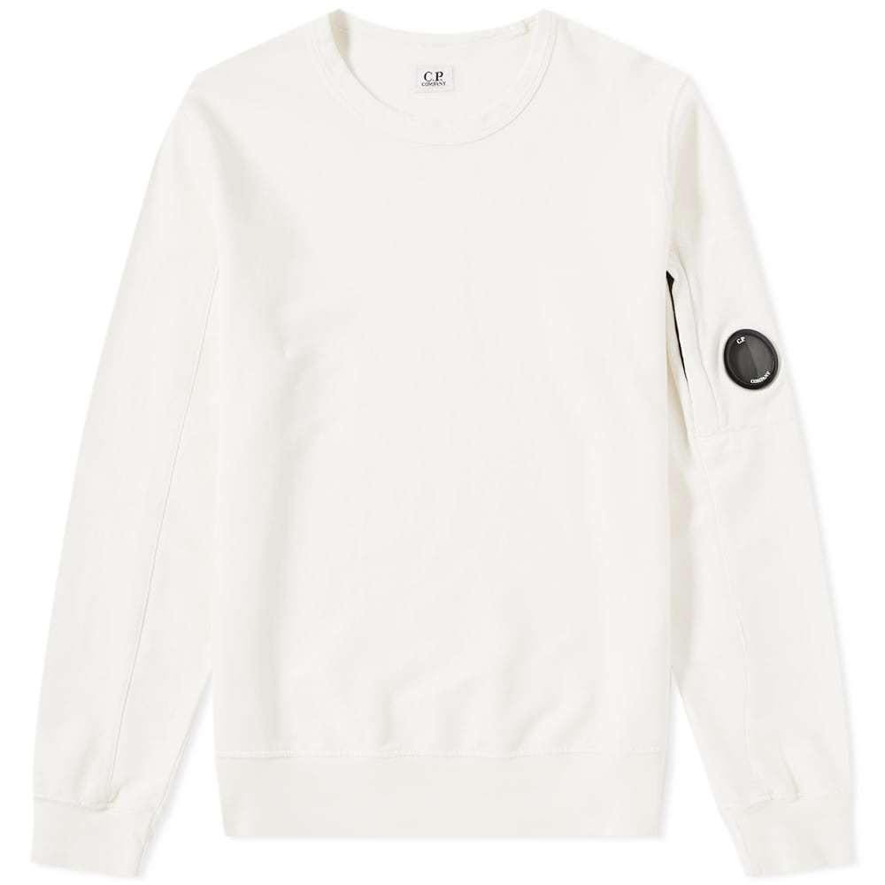 Photo: C.P. Company Arm Lens Crew Sweat White
