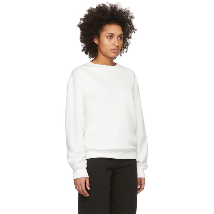 032c SSENSE Exclusive White Smiley Sweatshirt