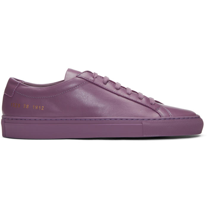 Common Projects Purple Original Achilles Low Sneakers