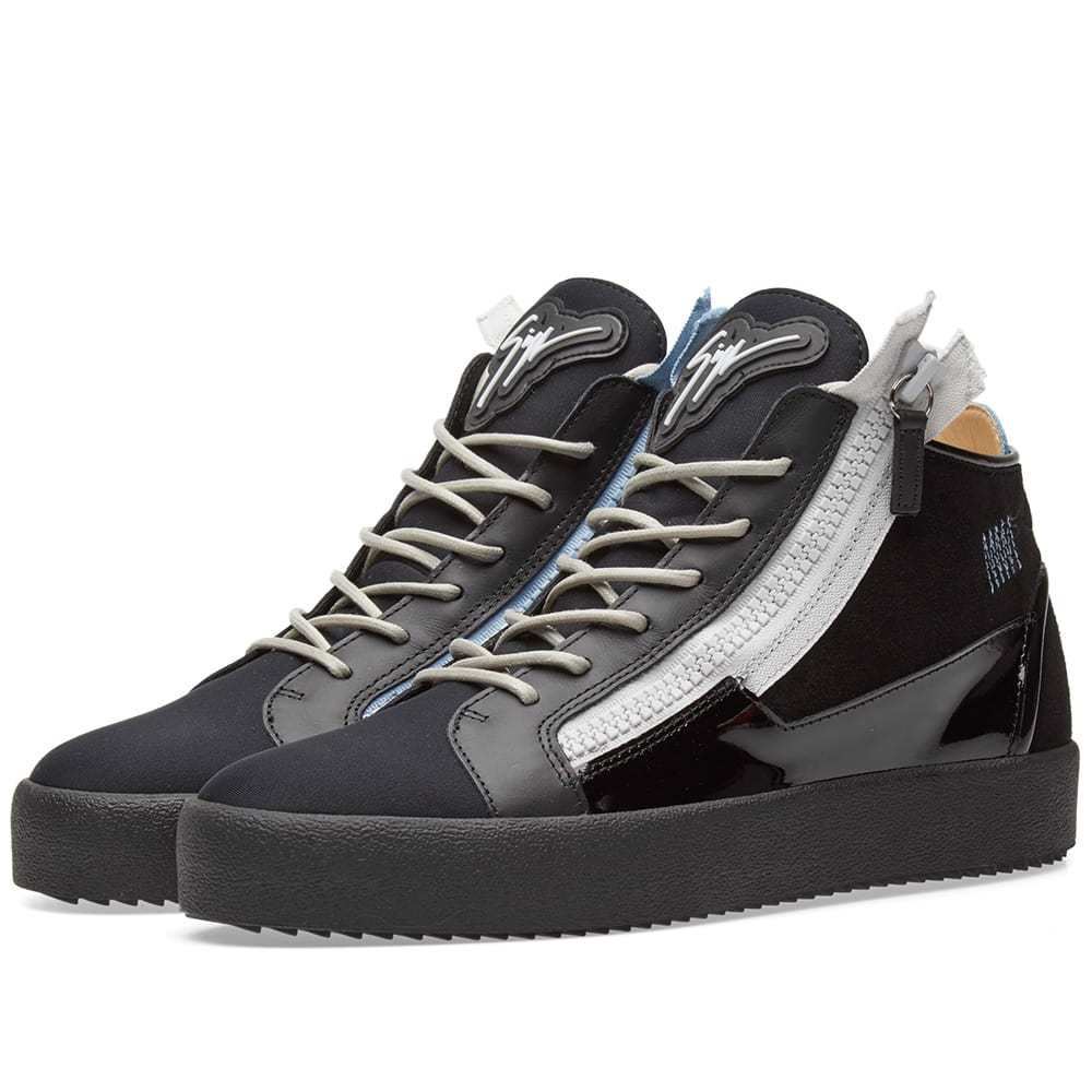 Photo: Giuseppe Zanotti Double Zip Deconstructed Mid Sneaker