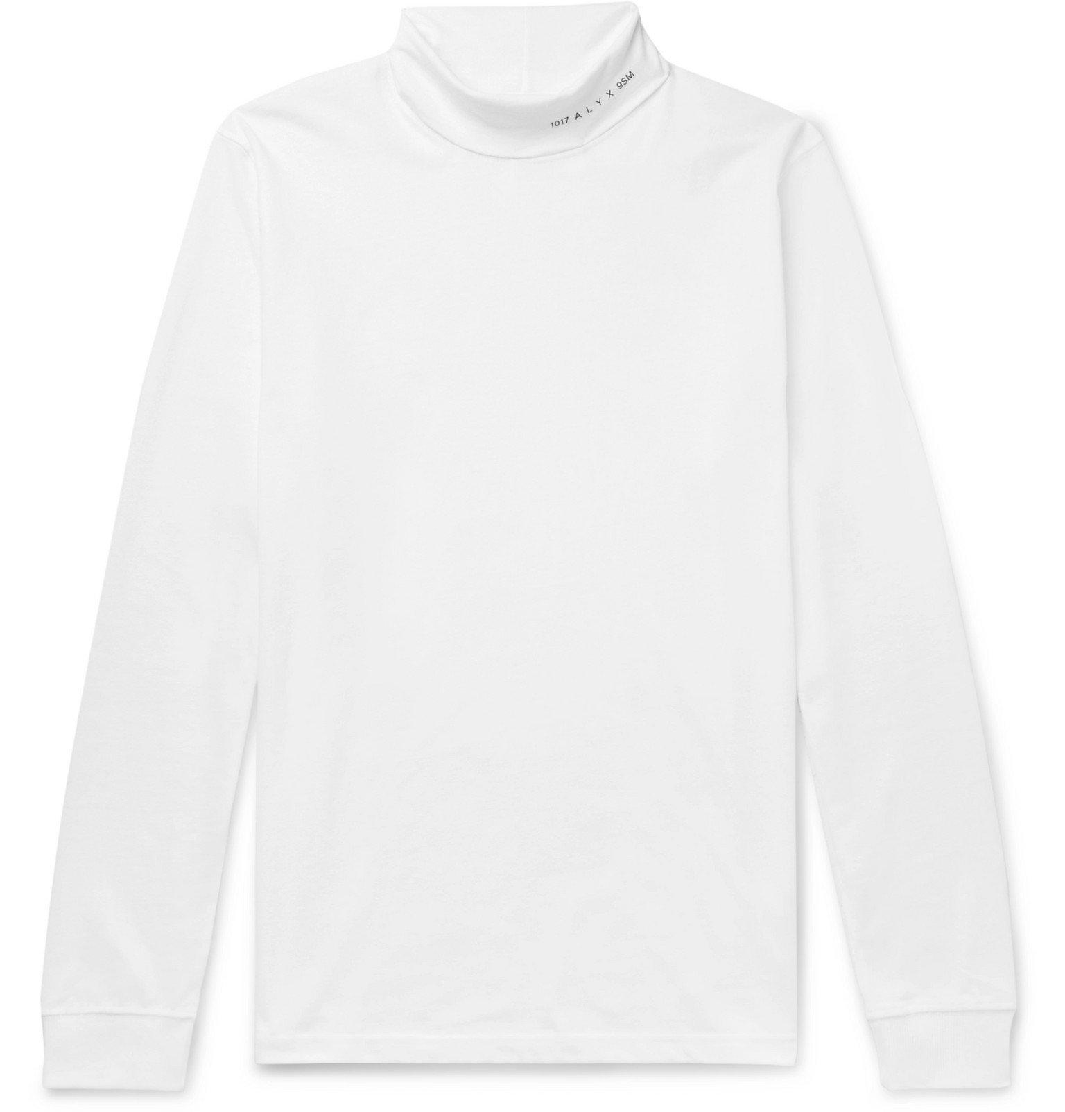 Photo: 1017 ALYX 9SM - Logo-Print Cotton-Blend Jersey Rollneck T-Shirt - White