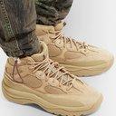 adidas Originals - Yeezy DSRT BT Suede and Nubuck-Trimmed Mesh Sneakers - Neutrals