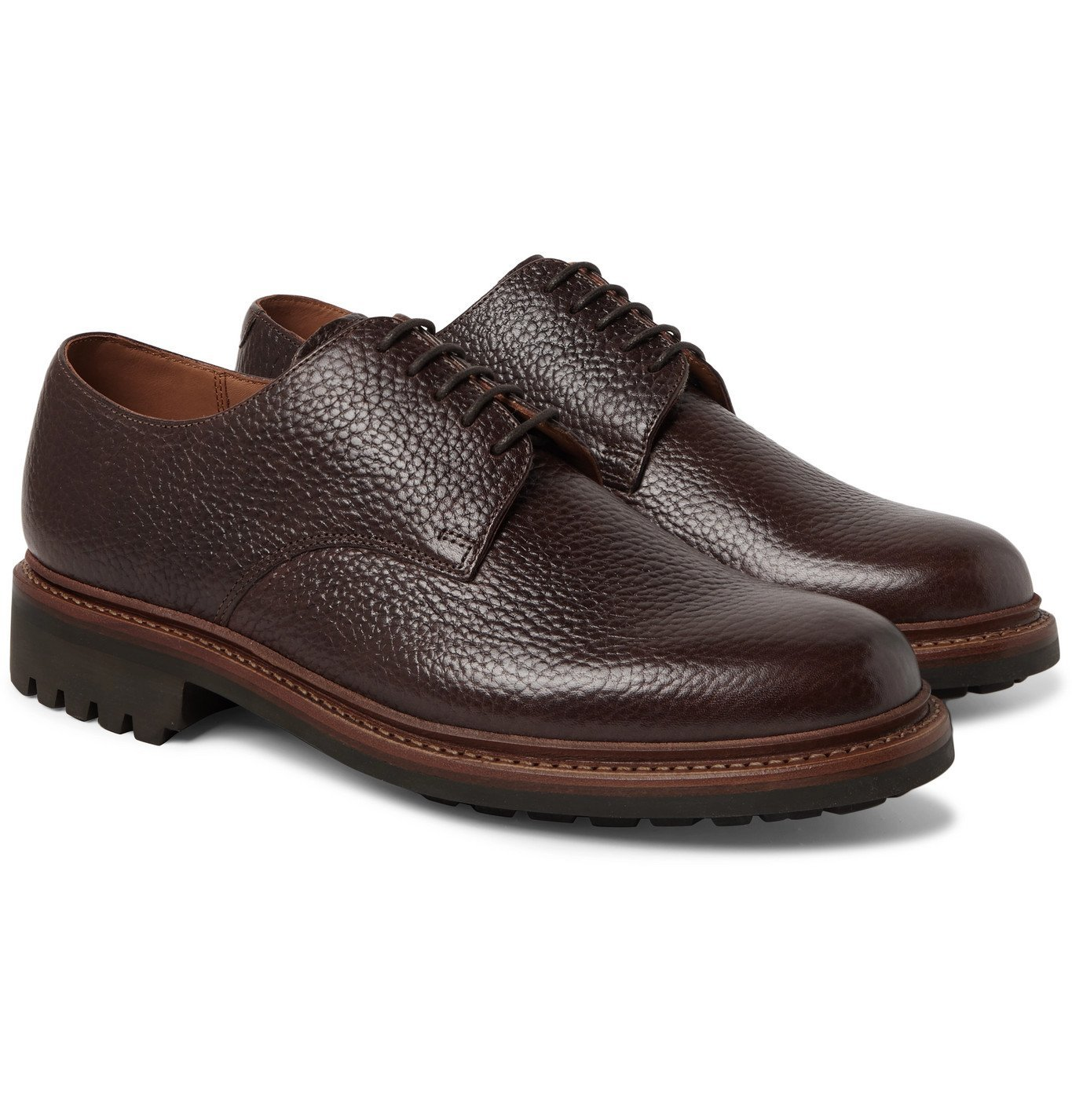 Photo: Grenson - Curt Full-Grain Leather Derby Shoes - Brown